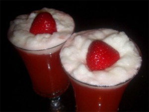 Strawberry Lemon Froth